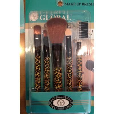 Набор кистей для макияжа Global кисти для макияжа 5шт (лицензия)