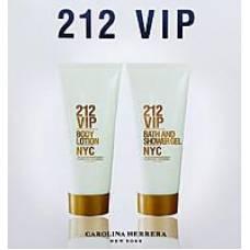 Набор для тела Carolina Herrera 212 Vip ( лосьон для тела 200мл + гель для душа 200мл)