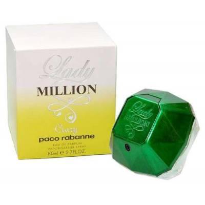 Женская парфюмерия Парфюмированная вода Paco Rabanne Lady Million Crazy 80ml (лицензия)
