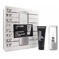Подарочный набор Carolina Herrera 212 VIP Men (edt 100ml+body lotion 100ml+body cream 100ml) (лицензия)