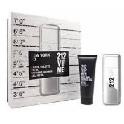 Подарочные наборы Подарочный набор Carolina Herrera 212 VIP Men (edt 100ml+body lotion 100ml+body cream 100ml) (лицензия)