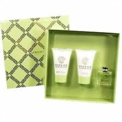 Подарочные наборы Подарочный набор Versace Versense (edt 5ml+b/l 25ml+ s/g 25ml) (лицензия)