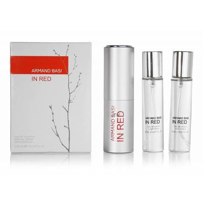 Женская парфюмерия Туалетная вода Armand Basi In Red Twist & Spray 3*15ml (лицензия)