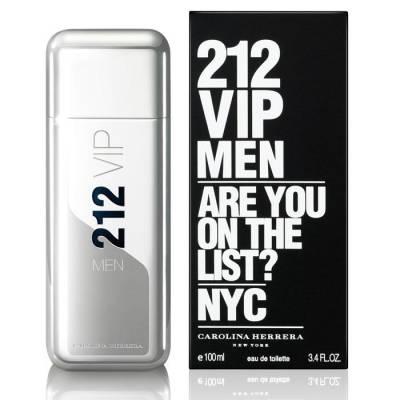 Мужская парфюмерия Туалетная вода Carolina Herrera 212 VIP Men 100ml (лицензия)