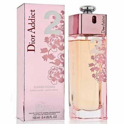 Женская парфюмерия Туалетная вода Christian Dior Addict 2 Summer Peonies 100ml (лицензия)