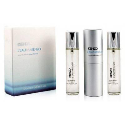 Женская парфюмерия Туалетная вода Kenzo Leau Par Twist & Spray 3*15ml (лицензия)