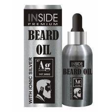 Mасло для бороды Inside Premium Beard Oil silver  с феромонами 30ml